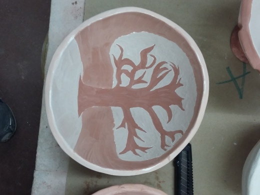Bowl that was being decorated by MSU Student